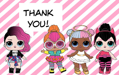 L.O.L. surprise thank you cards