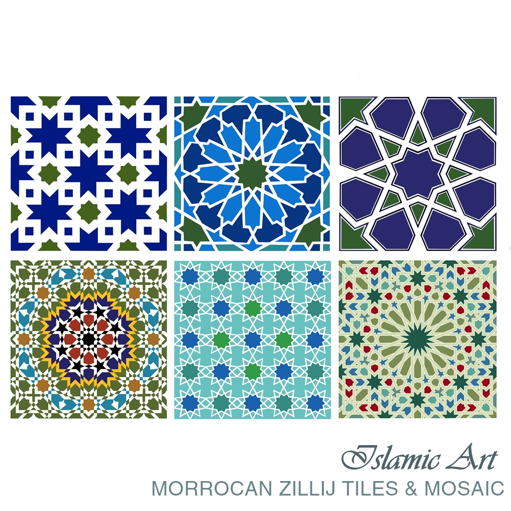 ISLAMIC ART: Morrocan Zillij Tiles & Mosaic