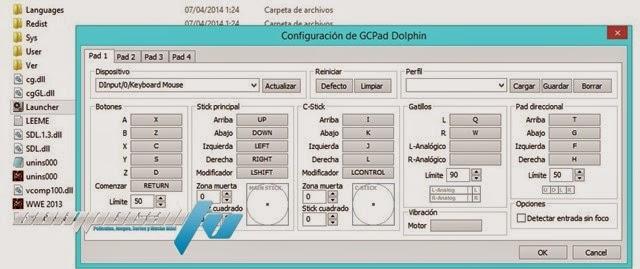Configuración Controles