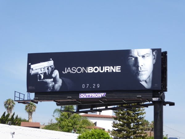Jason Bourne movie billboard