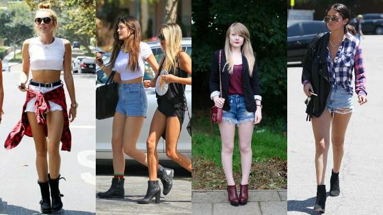 shortinho jeans de cintura alta