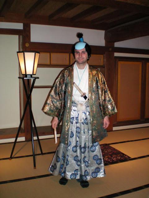 Disfraz de samurai en Japón