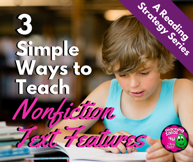 Learn how to teach and reinforce the importance of text features. Blog post includes a variety of teaching activities that could be used in a text features lesson..