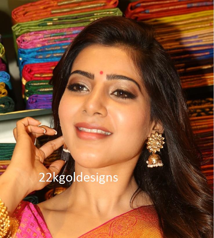 Samantha in Kundan Jhumkas
