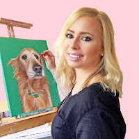 golden retriever, golden retriever lover,  custom portrait, dog portrait, dog painting, dog art, dog lover, gifts for dog lover, dog lover gift, pet painting, pet portrait, i love my dog, san francisco artist, SF artist, bay area artist
