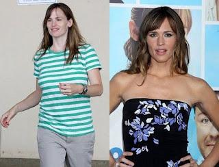 fotos de famosos antes e depois da maquiagem - jennifer garner