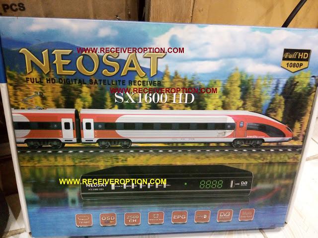 NEOSAT SX 1600 HD RECEIVER AUTO ROLL POWERVU KEY NEW SOFTWARE