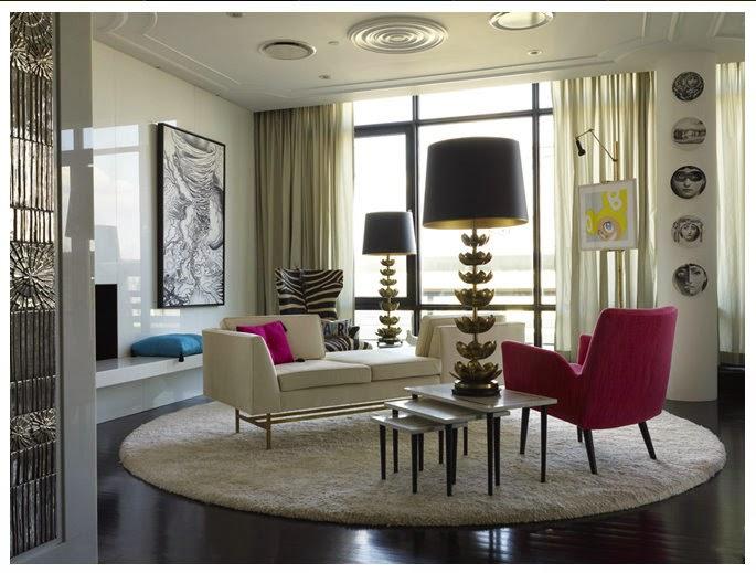 Sala con alfombra