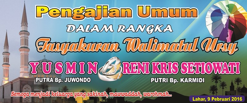 Desain Banner Pengajian Walimatul Ursy - Sisi Pandang Lain