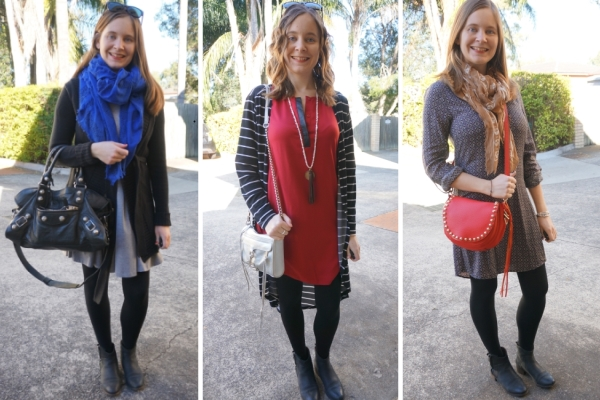 3 outfit ideas Ankle Boots and Dresses in Winter | Away From The Blue