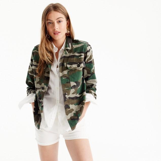 J Crew Camouflage utility shirt jacket