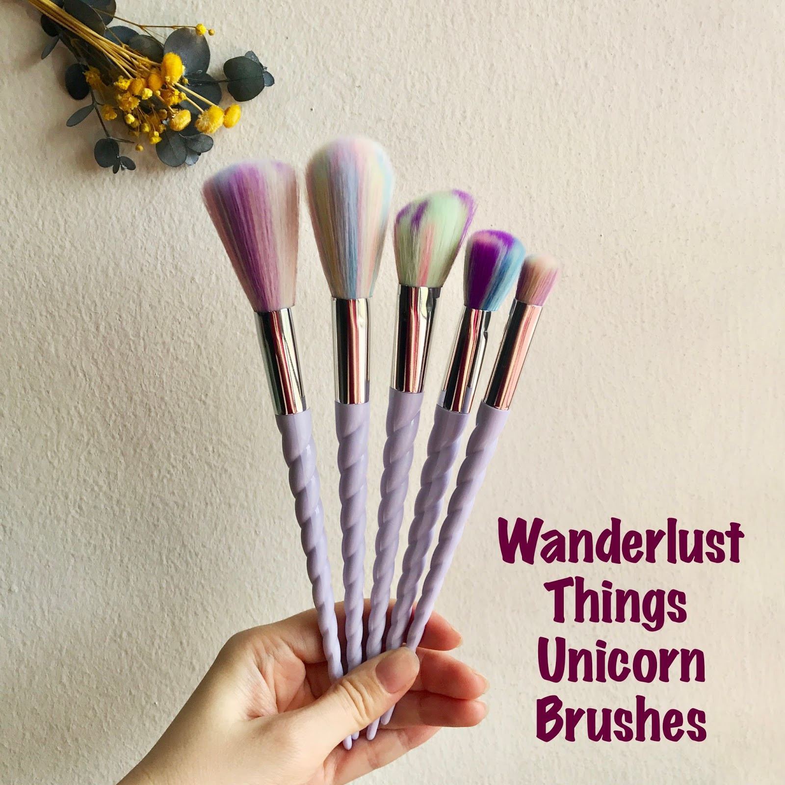 Soft and Fluffy Unicorn Brushes from Wanderlust Things
