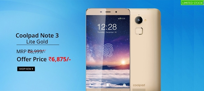 f71afda79f1 Buy Box Opened Coolpad Note 3 Lite Gold at Upto 25% off From TogoFogo.com