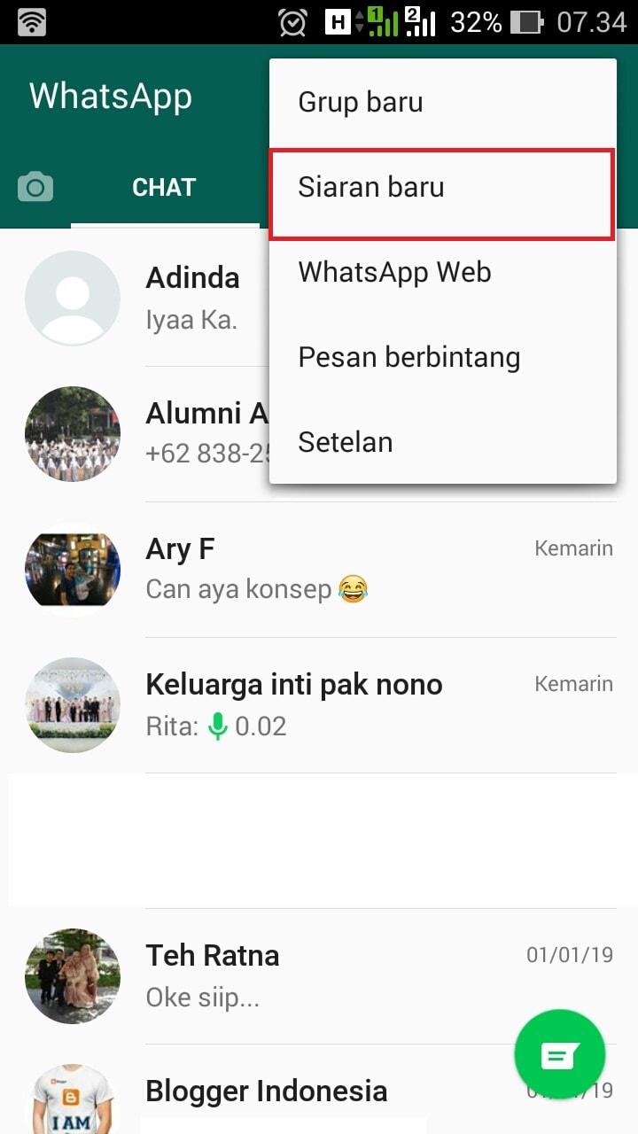 Cara Mengirimkan Pesan Ke Banyak Kontak Di Whatsapp Sekaligus
