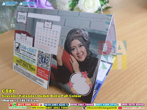 Souvenir Kalender Duduk Bella Full Colour