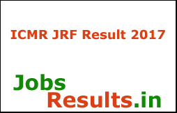 ICMR JRF Result 2017