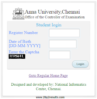 Anna University Results 2018 April May 2018 Exam Coe1.annauniv.edu
