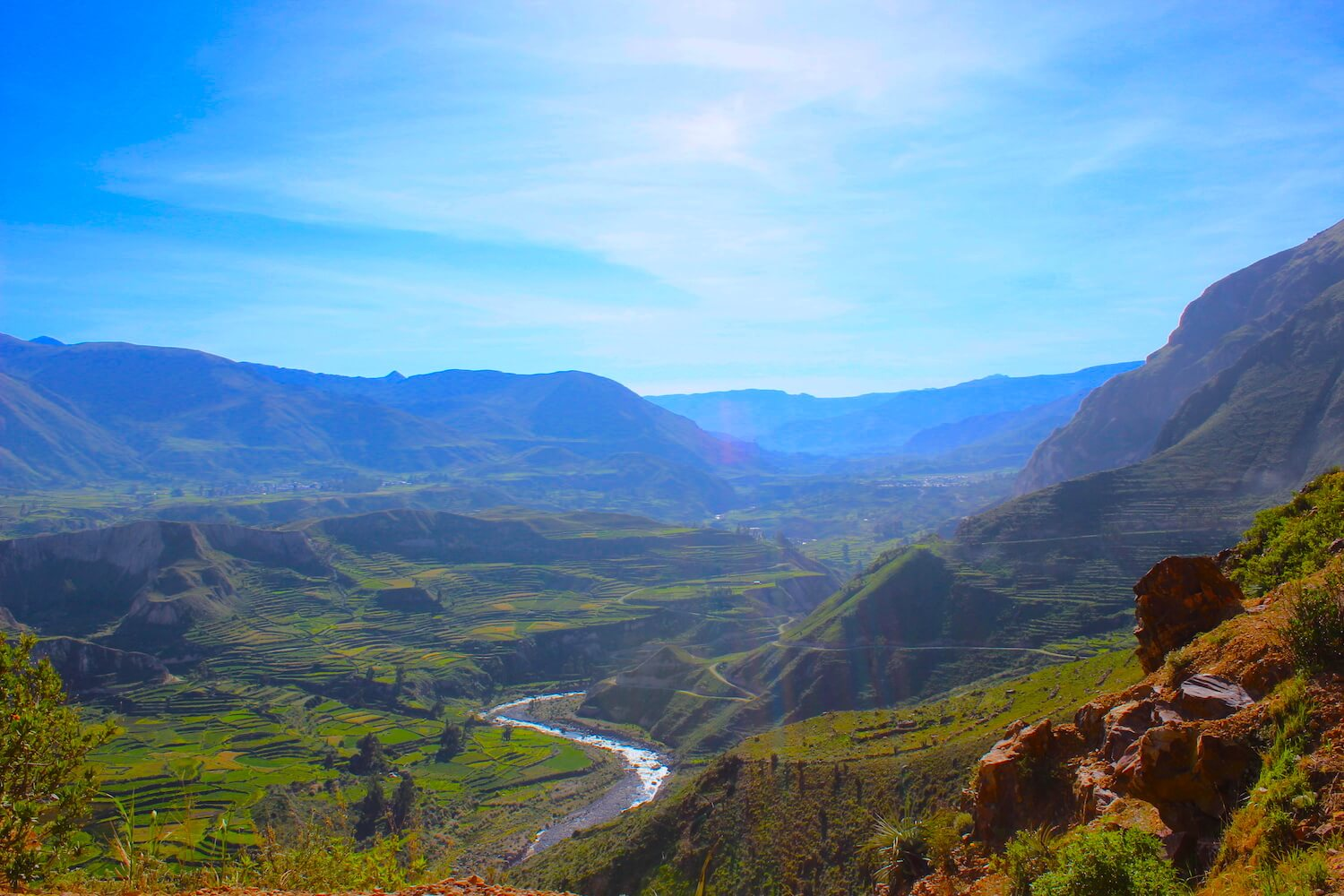 colca valley terraces