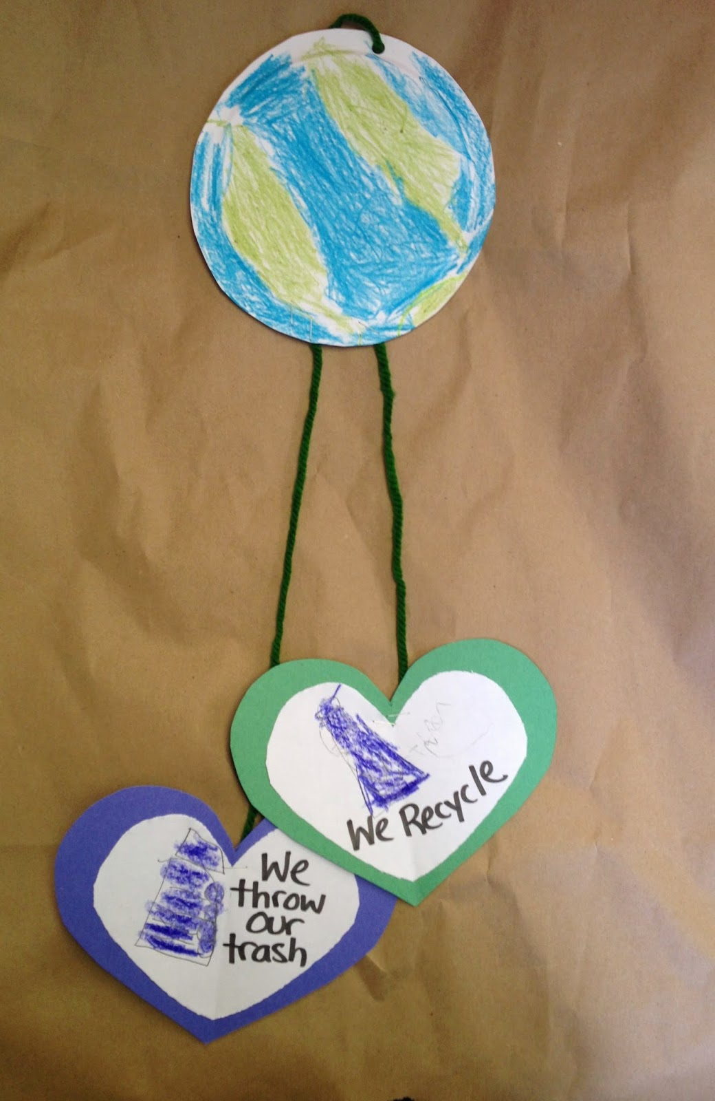 Ms C S Artroom Earth Day Mobiles Art Lesson