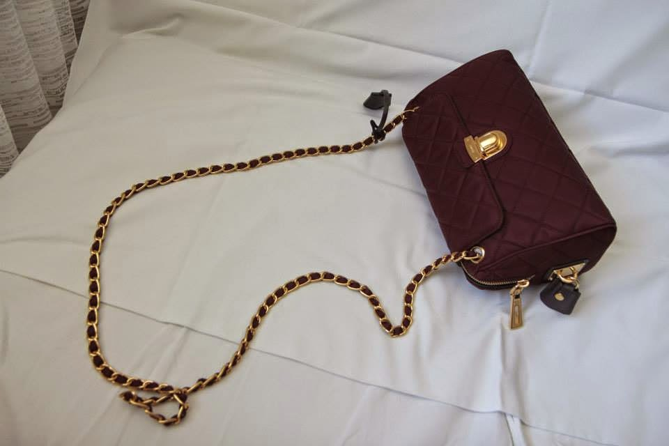 Prada Tessuto Impuntu Quilted Flap Bag with Chain Comes with authenticity  card f9ab7a90de1f6