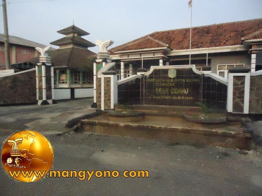 Kantor Desa Cidahu, Kecamatan Pagaden Barat.