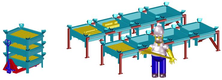 Участок комплектации завода металлоконструкций