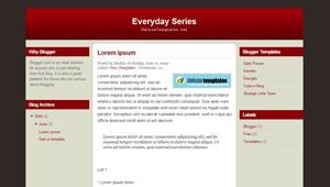 Everyday Series Blogger Template