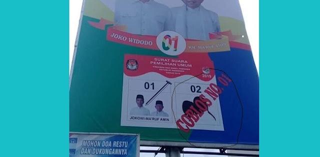 BUSET...!!! Di Lebak, Baliho Jokowi-Maruf Ilustrasikan Paslon 02 seperti Tikus
