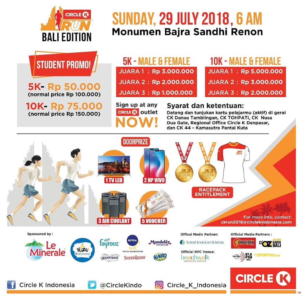 Circle-K Run Bali • 2018