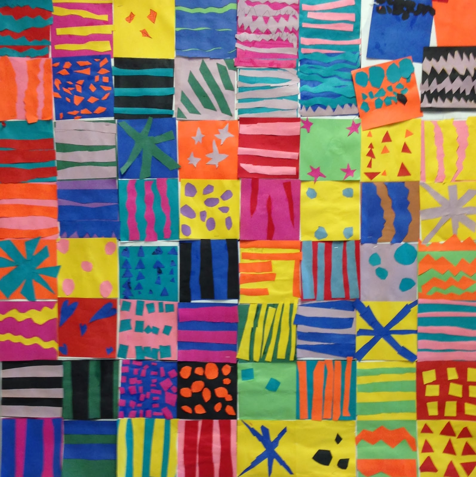 Art Paper Scissors Glue Pattern Collage