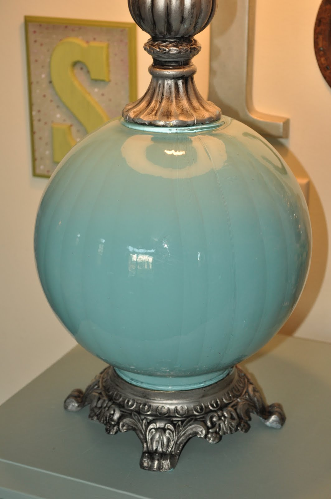 Spilled Paint Lamp Cassandra Design Turquoise Lamp