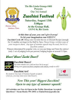 ….Zucchini Festival ?