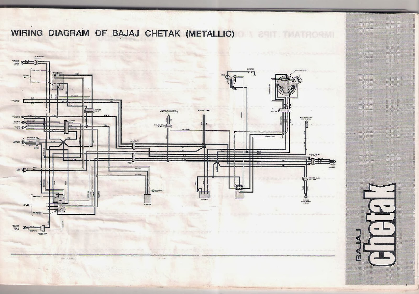 bajaj chetak 2005 model owners manual [ 1600 x 1125 Pixel ]