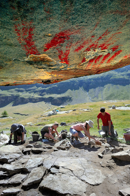 High altitude archaeology: Prehistoric paintings revealed