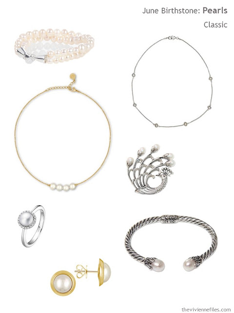 classically styled pearl jewelry