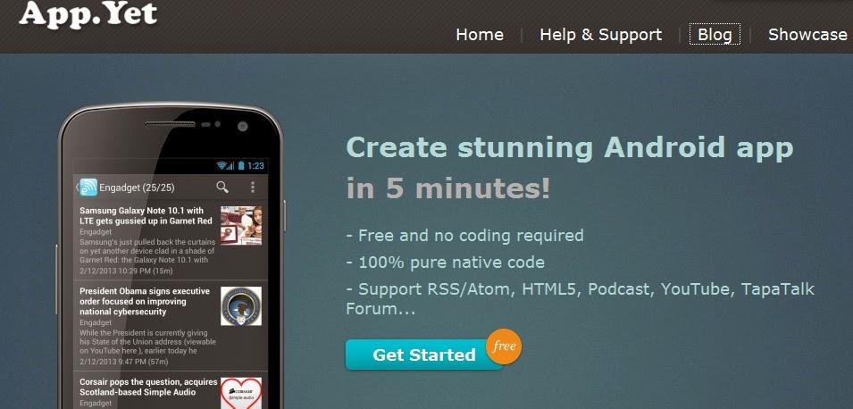 Membuat aplikasi android untuk blog