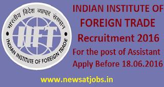 IIFT+recruitment+2016