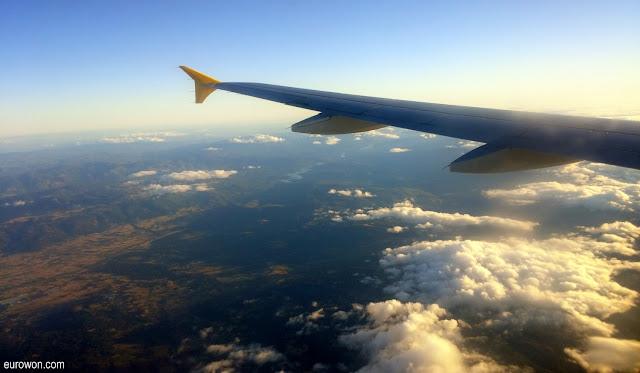 Avión entrando en Galicia