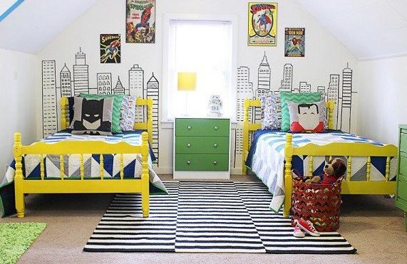 desain tempat tidur sedrhana untuk anak