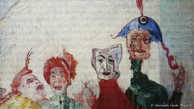Detalle Máscaras, de Ensor en Musée Fin de Siècle - Bruselas, por El Guisante Verde Project