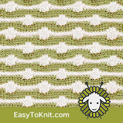 Textured Knitting 28: String of Purls | Easy to knit #knittingstitches #knittingpattern