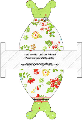 Flores de Navidad: Cajas para Imprimir Gratis.