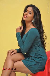 Telugu Actress Prasanthi Stills in Green Short Dress at Swachh Hyderabad Cricket Press Meet  0062.JPG