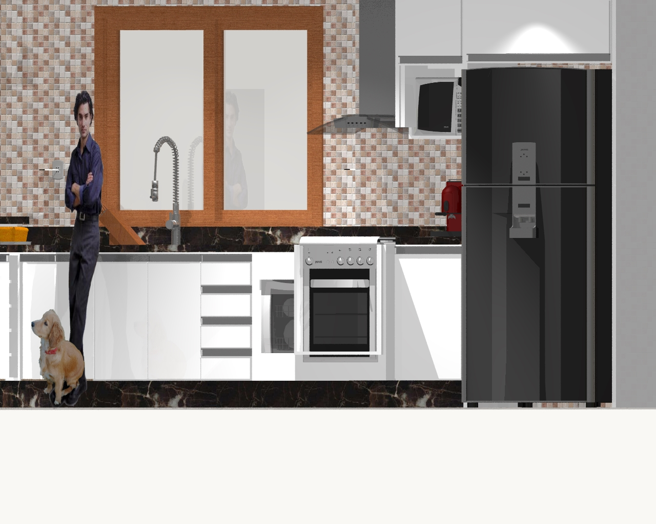 Deiasallin Projeto Da Cozinha Americana