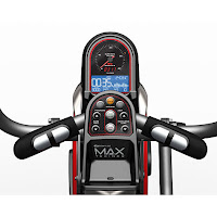 Max Trainer M5's monitor, image, with backlit LCD/LED display, Bluetooth, 9 programs, 16 resistance levels,