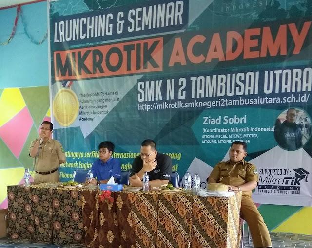 Peresmian dan Workshop Mikrotik Academy SMK Negeri 2 Tambusai Utara Tahun 20172