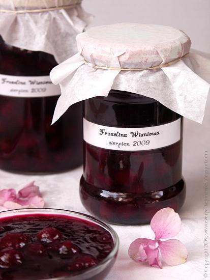 frużelina wiśniowa - wiśnie w żelu do deserów