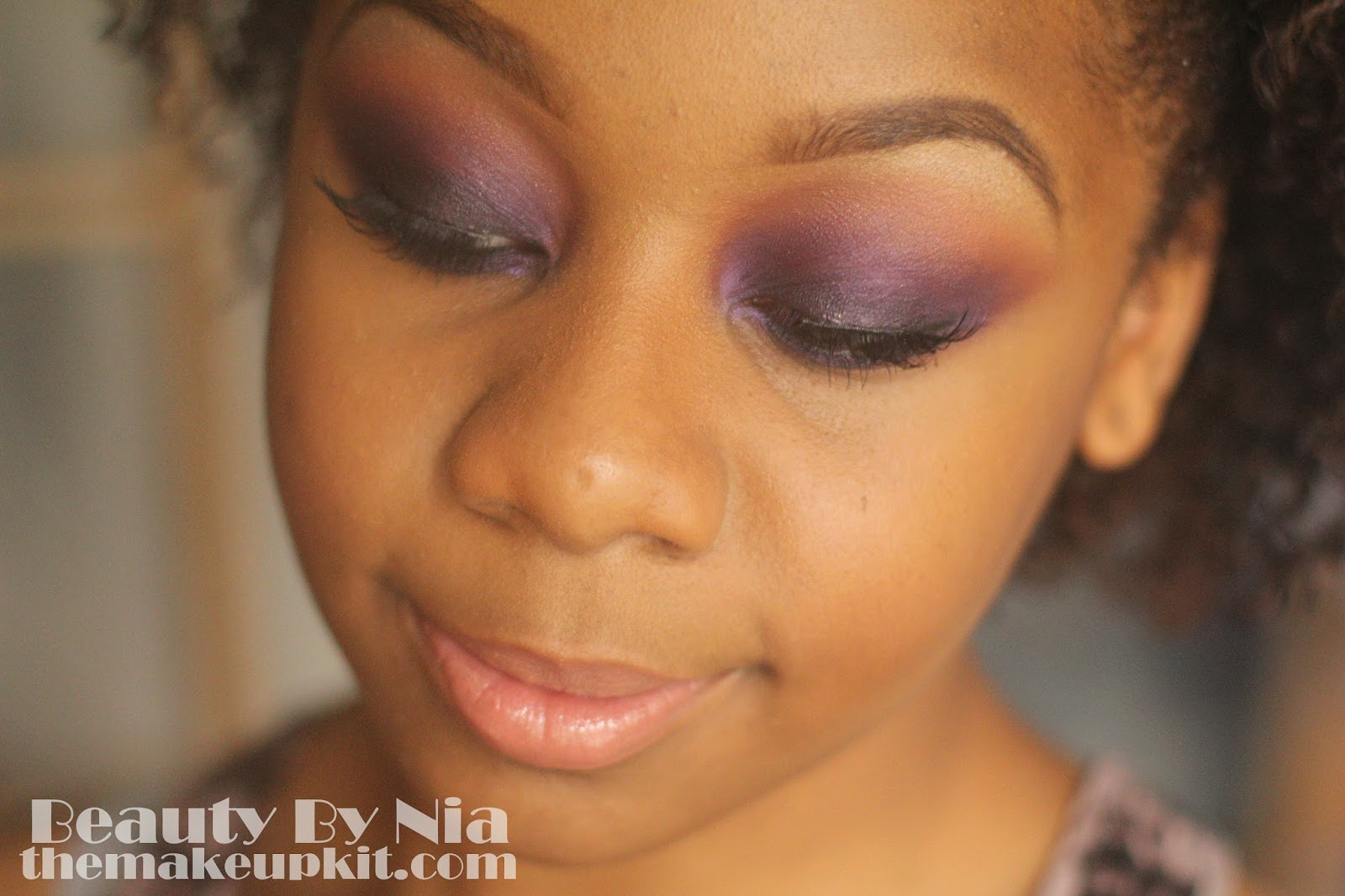 Smoked out purple eye make up look 8
