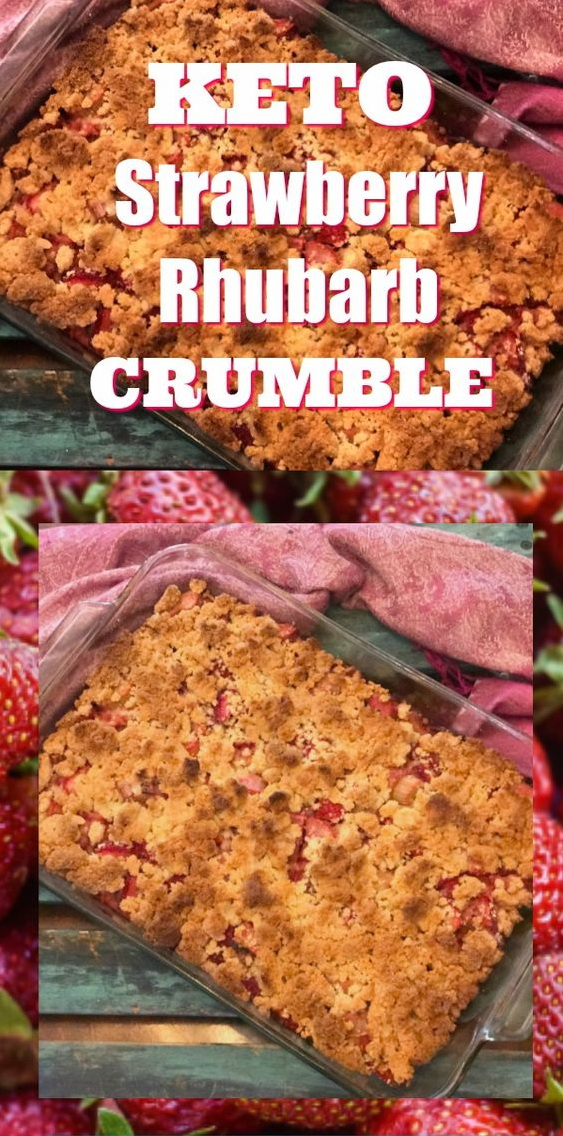 Delicious Keto Strawberry And Rhubarb Crumble