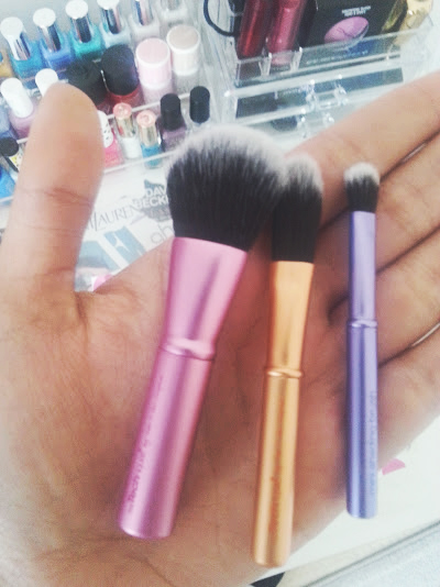 Mini Brush Trio & Miracle Complexion Sponge